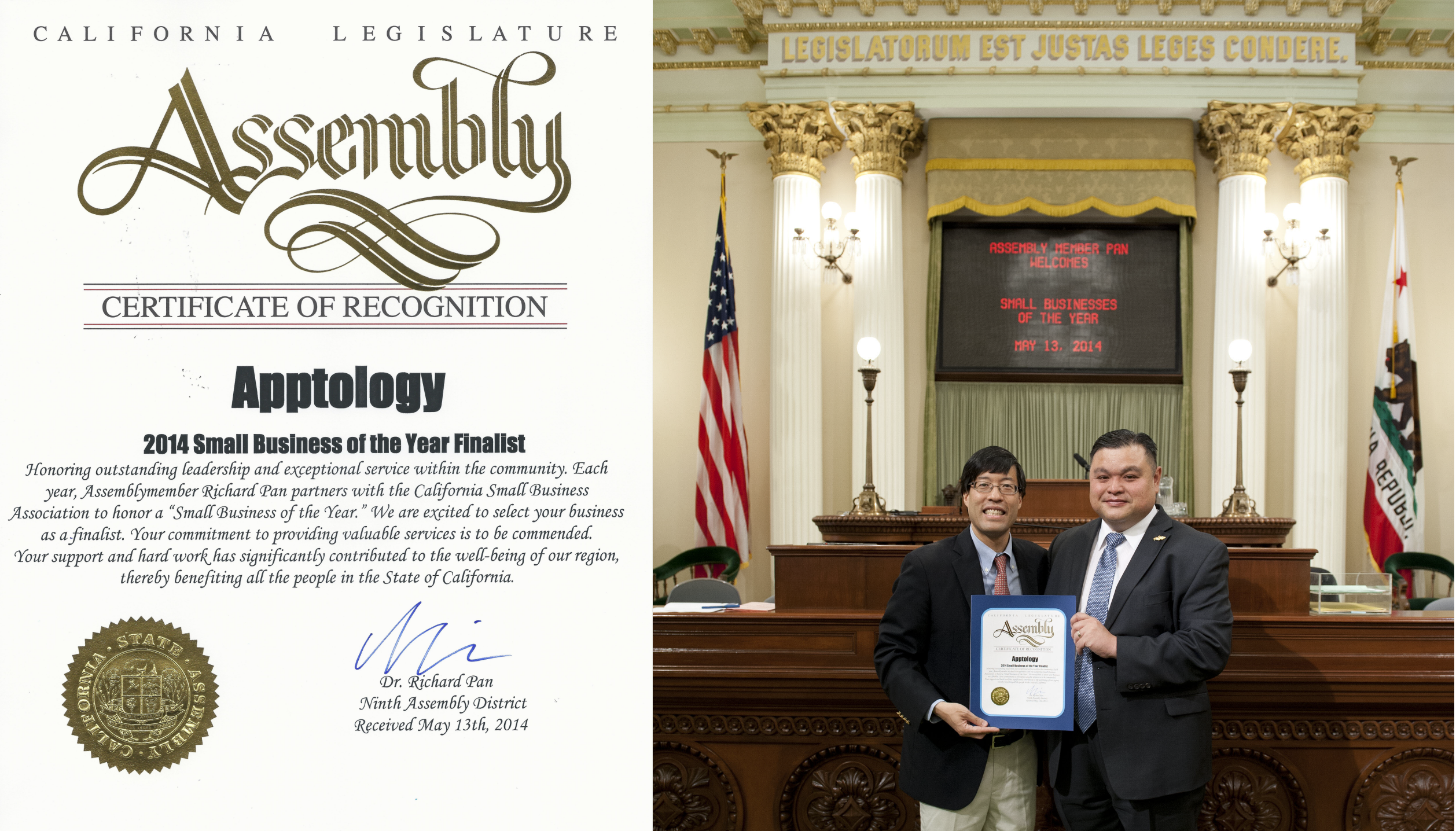 Apptology Is Recognized By California State Legislature Mobile