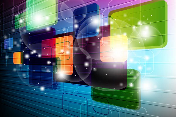 colorful-3d-technology-background-vector